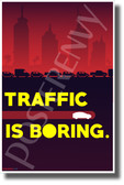 Traffic is Boring - Model X - New Humorous Boring Company Poster