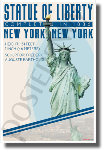 Statue of Liberty - Infographic - Classroom History USA POSTER (tr623)