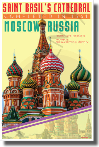 St. Basil's Cathedral - Infographic - Classroom History Landmark POSTER