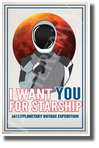 Uncle Starman Wants You - NEW Humor Novelty Vintage Style POSTER