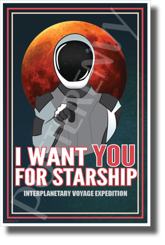 Uncle Starman Wants You - Dark - NEW Humor Novelty Vintage Style POSTER