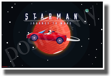 Starman Journey to Mars - NEW Humor Novelty POSTER