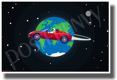 Starman Circles the Earth - NEW Humor Novelty POSTER
