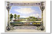 Ninth Annual New England Fair Lowell Massachusetts 1872 - Vintage Print