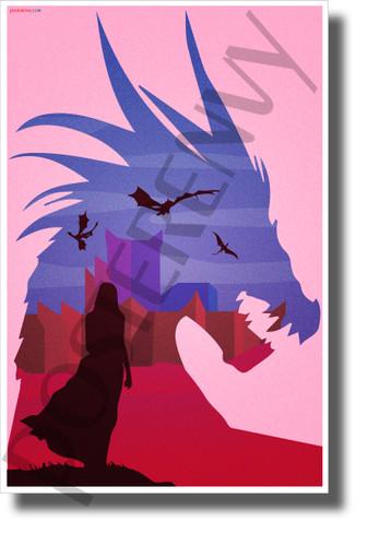 Mother of Dragons - Daenerys Targaryen - New Novelty GOT TV Show Poster