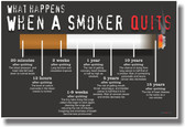 What Happens When A Smoker Quits - NEW Health Poster Business Cards (100 Count)