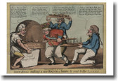 John Bull Making a New Batch of Ships - Colonial Vintage Poster