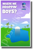Where are We Dropping Boys? BUS - NEW Video Game Novelty POSTER