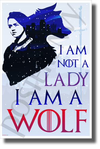 I Am Not a Lady, I Am a Wolf - NEW Novelty TV Fantasy Poster