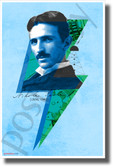 Nikola TEϟLA Pop Art Design - NEW Classroom Novelty Fun Motivational Poster