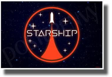 Starship Space Icon - SpaceX - NEW Humor Novelty POSTER