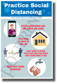 Practice Social Distancing - New Health Public Safety Prevention Poster