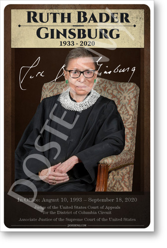 US Supreme Court Justice Ruth Bader Ginsburg - NEW Classroom POSTER (fp504)