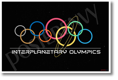 Interplanetary Olympics - NEW Humor Novelty POSTER