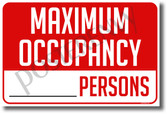 Maximum Occupancy - NEW Health Public Safety Prevention POSTER