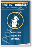 Cover Your Coughs and Sneezes - NEW Health Public Safety Prevention POSTER