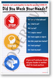 Did You Just Wash Your Hands? - NEW Health Public Safety Prevention POSTER