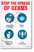 Stop the Spread of Germs - New Public Safety POSTER
