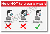 How Not to Wear a Mask - New Public Safety POSTER