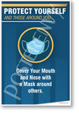 Cover Your Mouth and Nose - New Public Safety POSTER
