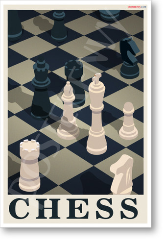 CHESS Isometric Design - NEW Art Chess Games POSTER