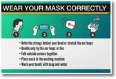 TAKE OFF YOUR MASK CAREFULLY, WHEN YOU'RE HOME- NEW public health POSTER