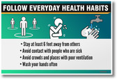Follow Everyday Health Habits - NEW public safety POSTER