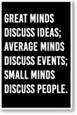 Great Minds - NEW motivational POSTER