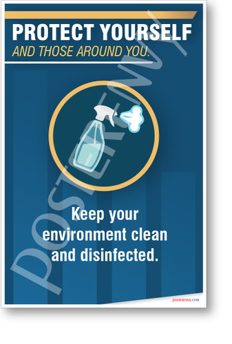 Keep Your Environment Clean and Disinfected - NEW public health POSTER
