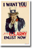 I Want You! for the U.S. Army - Enlist Now