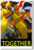 Together - Vintage WW2 Reproduction Poster