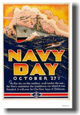 NAVY DAY - NEW Vintage WW2 Poster
