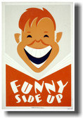 Funny Side Up - NEW Vintage WPA Poster