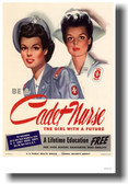 Be a Cadet Nurse - The Girl with a Future - NEW Vintage WW2 Reprint Poster