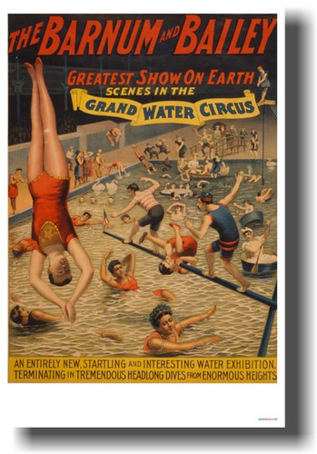 Barnum & Bailey - Greatest Show on Earth - NEW Vintage Circus Poster (vi025)