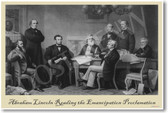 President Abraham Lincoln Reading Emancipation Proclamation - NEW American History Poster (vi023)