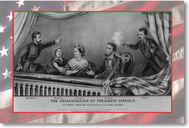 The Assassination of President Abraham Lincoln - April 14, 1865 - New Social Studies American History Vintage Poster (vi020)