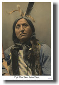 Left Hand Bear Oglala Sioux Indian Native American Chief 1898 - Vintage Photograph Poster (vi018)