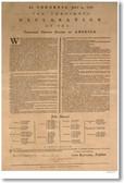 U.S. Declaration of Independence - July 4, 1776 John Hancock American History PosterEnvy (vi011)