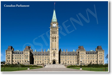 Canadian Parliament building Ottawa Ontario NEW World Travel Poster government architecture (tr460)