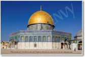 Dome of the Rock on the Temple Mount Old City Jerusalem Jewish Jew Israel Religion Architecture Gold NEW World Travel Poster (tr458)