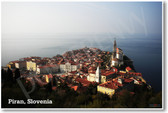 Piran Slovenia Europe Town Aerial Scenic Photo Cityscape Geography NEW World Travel Poster (tr453)