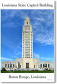 Louisiana State Capitol Building in Baton Rouge Louisiana NEW World Travel Poster (tr449)