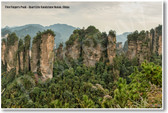 Five Fingers Peak - Quartzite Sandstone Hunan China - NEW World Travel Poster