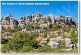 Karst Erosion in El Torcal de Antequera Andalusia Spain NEW World Travel Poster (tr444)