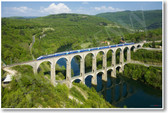 SNCF TGV Duplex Train Crossing the Cize Bolozon Viaduct Over the Ain River France NEW World Travel Poster (tr442)