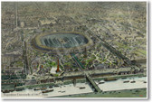 Official Birds Eye View of Exposition Universelle of 1867 Paris France Vintage  Aerial NEW World Travel Poster (tr441)