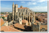 Saint-Just and Saint-Pasteur Cathedral in Narbonne South of France French church NEW World Travel Poster religion catholic (tr446)