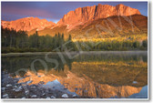 Mount John Laurie Alberta Canada NEW World Travel Lake Mountain Sunset Ecology Landscape Poster (tr436)