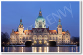 New City Hall Hanover Germany NEW World Travel europe architecture Poster (tr431)